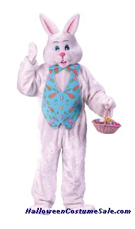 BUNNY ADULT COSTUME - W/ OVERHEAD MASK