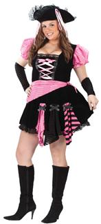 PIRATE PINK PUNK PLUS SIZE ADULT COSTUME