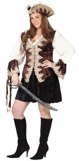 ROYAL LADY PIRATE PLUS SIZE ADULT COSTUME