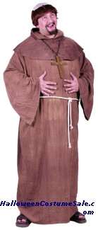 MEDIEVAL MONK ADULT COSTUME - PLUS SIZE