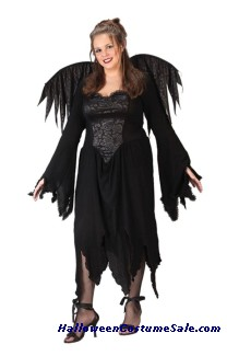 BLACK ROSE FAIRY ADULT COSTUME - PLUS SIZE