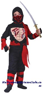 NINJA CHILD COSTUME - W/VINYL CHEST