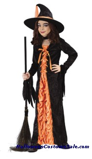 MYSTIC ORANGE WITCH CHILD COSTUME
