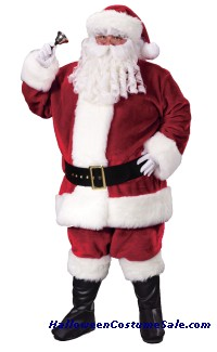 PREMIUM PLUSH SANTA ADULT COSTUME