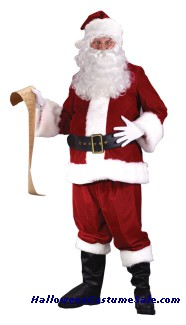 ULTRA VELVET SANTA ADULT COSTUME