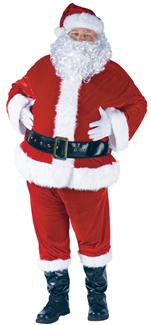 SANTA SUIT COMPLETE VELOUR PLUS SIZE ADULT COSTUME