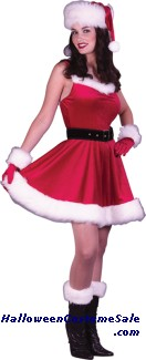 MS SANTA BABY ADULT COSTUME