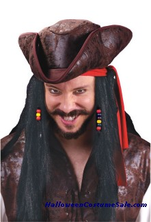 Long Pirate Wig