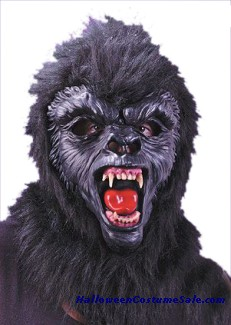 GORILLA MASK WITH TEETH, DELUXE