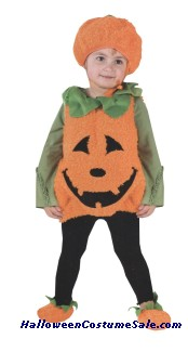 PUMPKIN CUTIE PIE VEST TODDLER COSTUME