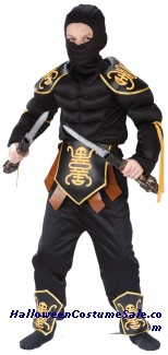 NINJA MUSCLE WARRIOR CHILD COSTUME