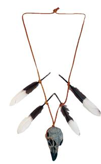 NATIVE WARRIOR SKULL NECKLACE
