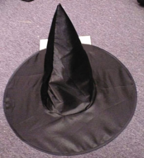 WITCH HAT DELUXE SATIN KIDS