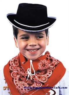 COWBOY HAT, CHILD, BLACK