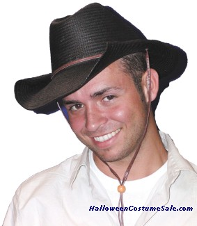 COWBOY HAT ROLLED, BLACK