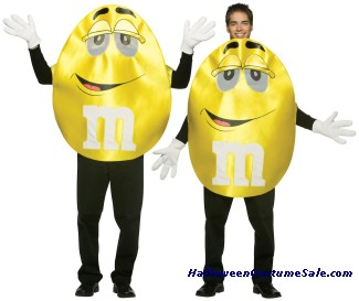 M&MS YELLOW DELUXE ADULT COSTUME