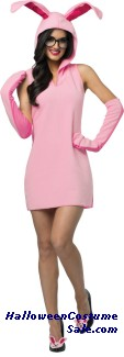 CHRISTMAS STORY BUNNY DRESS ADULT COSTUME