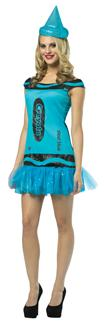 CRAYOLA STEEL BLUE GLITZ ADULT COSTUME