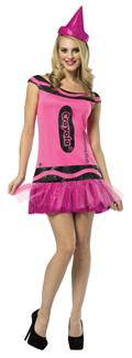 CRAYOLA SHIMMERING BLUSH ADULT COSTUME