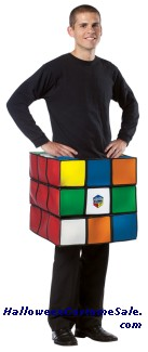 RUBIKS CUBE ADULT COSTUME