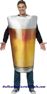 GET REAL BEER PINT ADULT COSTUME