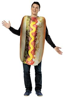GET REAL LOADED HOT DOG ADULT COSTUME