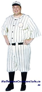 Old Tyme Baseball Player Costume - Plus Size