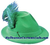ALPINE HAT, GREEN FLOCKED