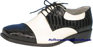 OXFORD BLACK/WHITE SHOE MEN