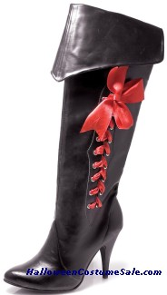 PIRATE BOOT WITH RIBBONS