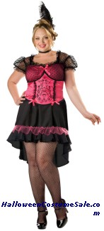 SALOON GAL PLUSE SIZE COSTUME