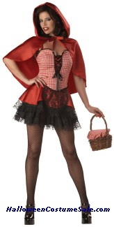 RED HOT RIDING HOOD ADULT COSTUME