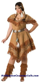 INDIAN MAIDEN PLUS SIZE COSTUME