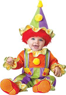 CUDDLY CLOWN TODDLER COSTUME