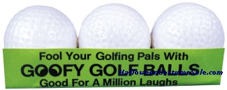 GOOFY GOLF BALLS (3/BOX)