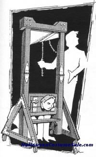 FRENCH GUILLOTINE ILLUS. PLANS