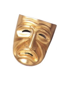 TRAGEDY MASK, GOLD