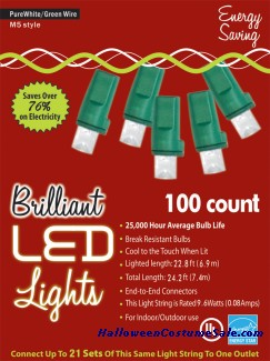 100L M5 PURE WHITE HOLIDAY LIGHTS
