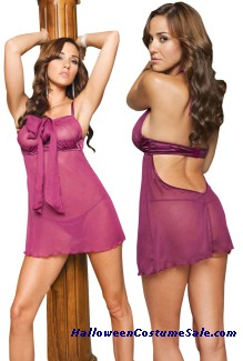 CHIFFON BABYDOLL WITH G-STRING