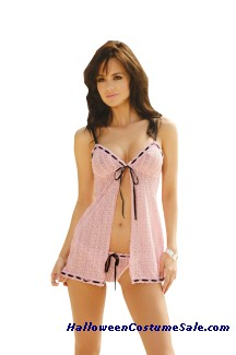 Open Front Babydoll - Plus Size