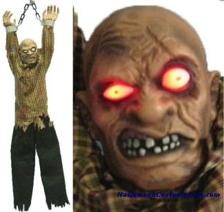 ANIMATED HANGING ZOMBIE PROP