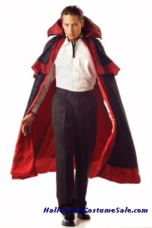 MIDNIGHT CARNIVAL CAPE WITH COLLAR