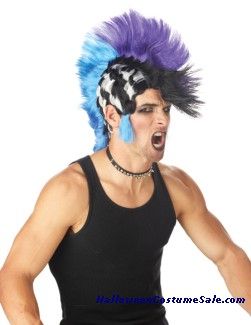 CHECKERED MOHAWK WIG