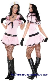 SASSY SAILOR PINK ADULT COSTUME