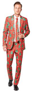 CHRISTMAS RED ADULT SUIT