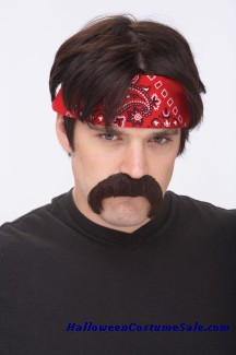 The Biker Mustache- Brown