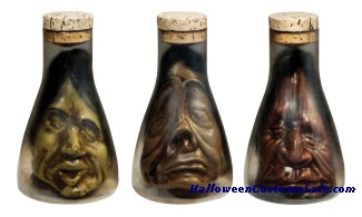 SHRUNKEN HEADS IN FLASK
