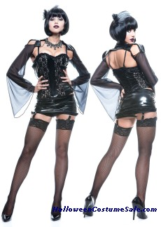 MIDNITE MISTRESS FRENCH KISS ADULT COSTUME - SUPER HOT!