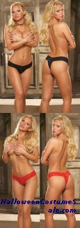 STRETCH LACE THONG ADULT COSTUME