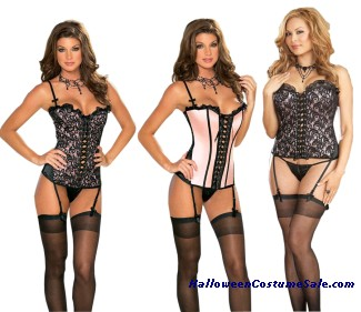 REVERSIBLE CORSET WITH THONG